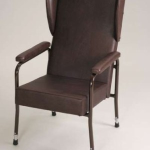 Metal Framed Chair Luxury Adj Hgt Brown Vinyl