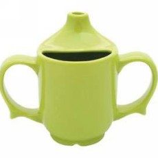 Two Handled Feeder Cup - Green Yellow or White